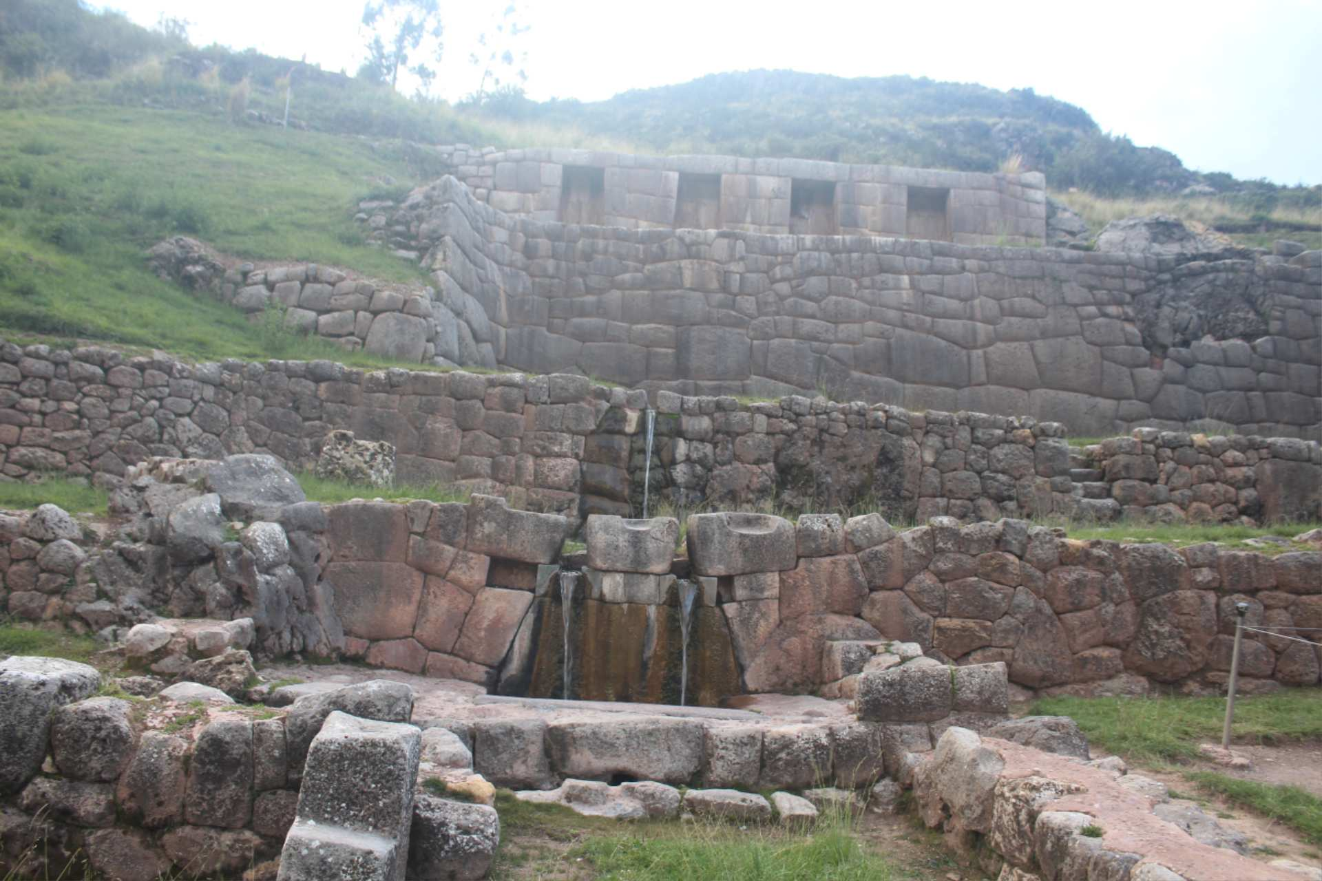 Tambomachay is an Incan ruins site near Cusco, Peru http://infromtheoutpost.com