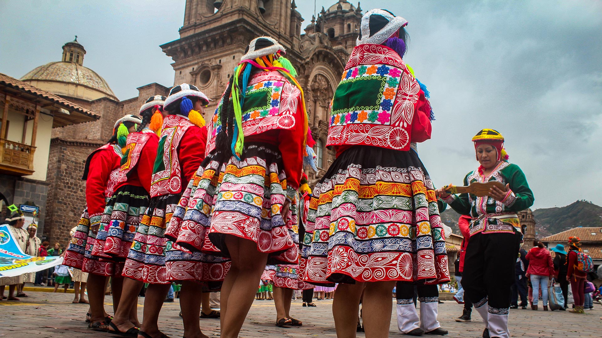 http://infromtheoutpost.com Traditional dress of the Andean people, in Cusco Peru