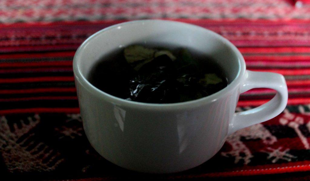 coca leaf tea in Peru