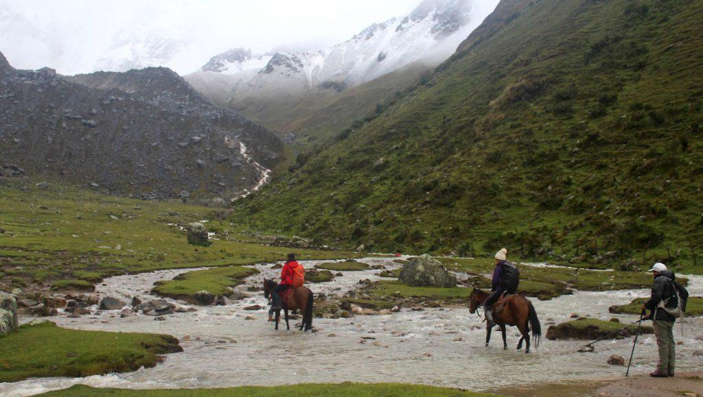 horseback riding Andes Mountains Peru