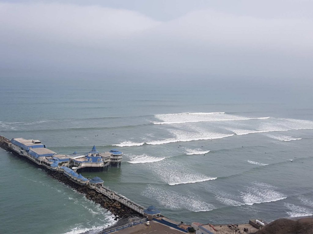 https://infromtheoutpost.com Lima is bordered by the Pacific Ocean, so surfing is both highly popular and accessible