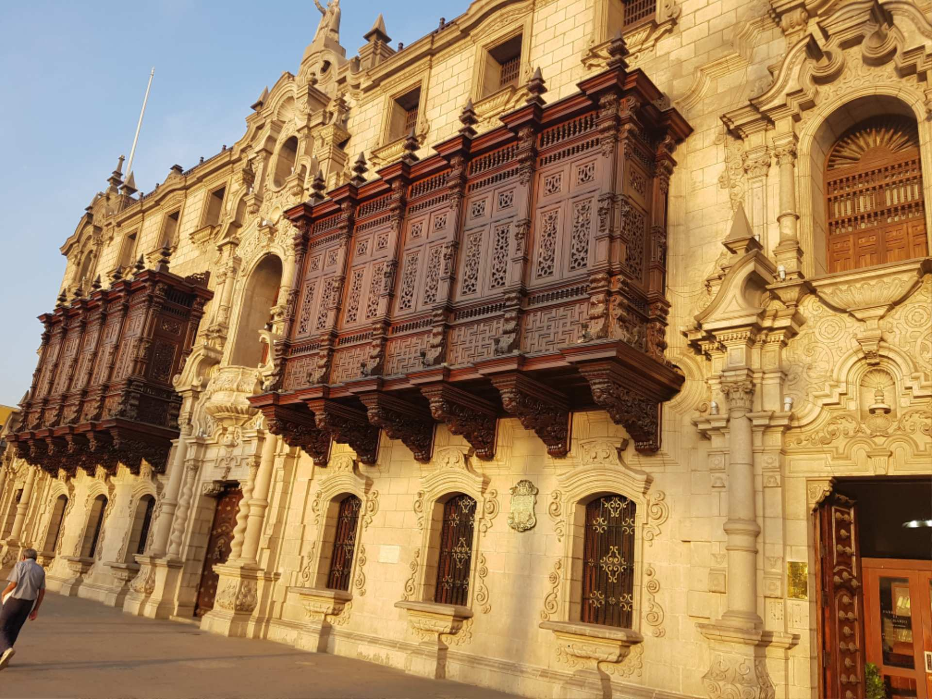 https://infromtheoutpost.com baroque balcony of the Cathedral of Lima, Peru