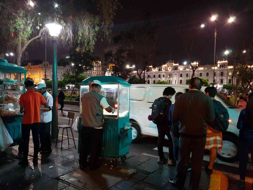 Night life in historic district of Lima. (Outpost)